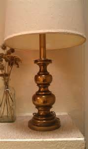 Vintage authentic stiffel brass table lamp classic hollywood regency