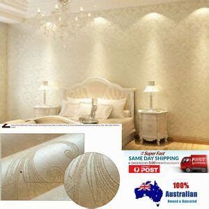 10m 3d thick texture non woven fabric pearl white wallpaper roll au ebay