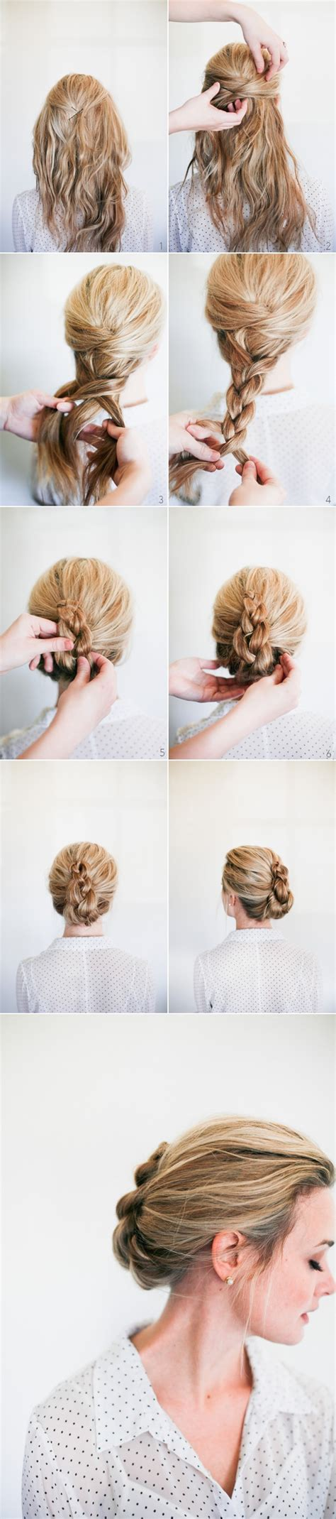 step by step twist hairstyles wedding hairstyle tutorial romantic braided french twist