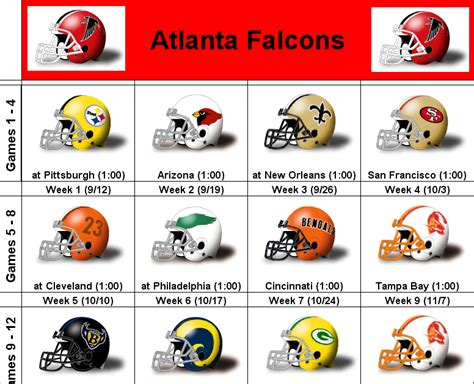 printable helmet schedule simononsports 2010 atlanta falcons printable helmet schedule