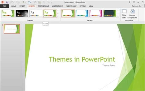 themes in ppt theme fonts in powerpoint 2013