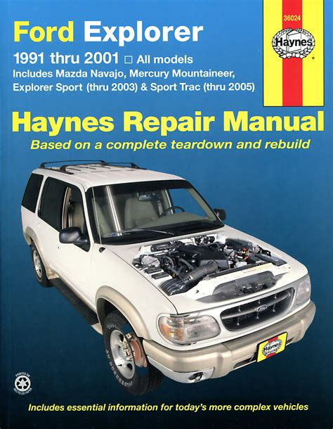 free service manuals online 2000 ford explorer sport trac spare parts catalogs ford explorer mazda navajo covering ford explorer mazda navajo 1991 2001 mercury