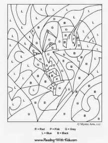 coloring worksheets 5 color by number pages for