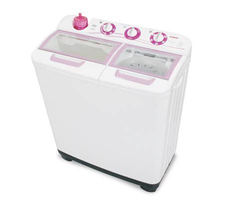 Mesin Cuci Sanken Ambrosia sanken tw1123 mesin cuci tub 9 kg pink putih ezyhero