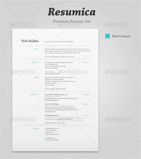 Resume Template Best Design 20 Best Resume Templates Web Graphic Design Bashooka