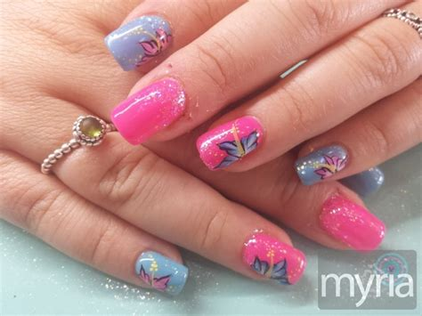 Nail Designs With Pink And Blue