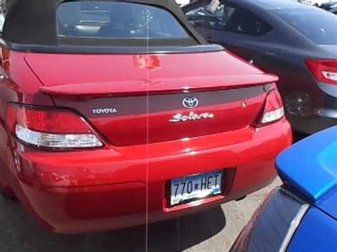 How Much Is A Toyota Solara 2001 Toyota Camry Solara Convertible For Sale Call Jp