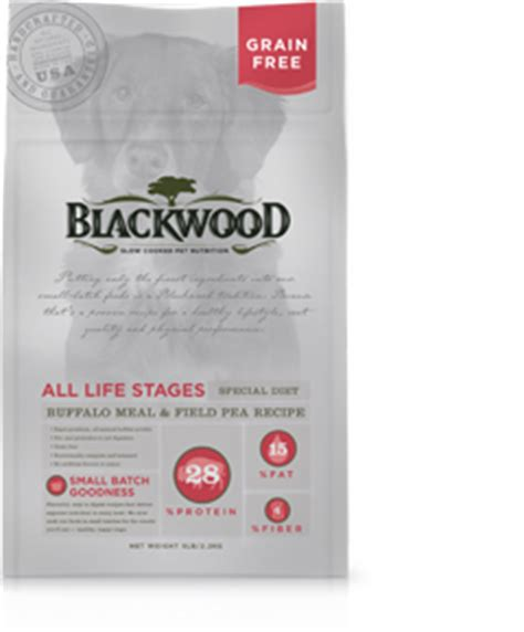 Blackwood All Stage Chicken Meal With Field Pea Grainfree buffalo meal field pea blackwood pet food