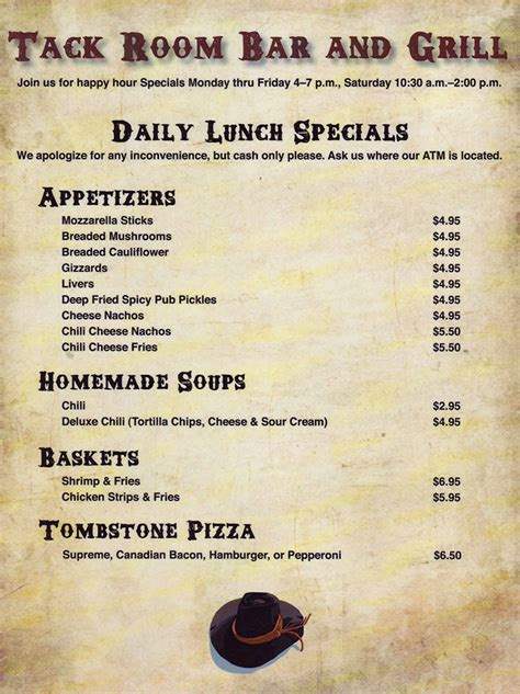 the grill room menu tack room bar grill delivery menu lincoln ne provided by metro dining delivery