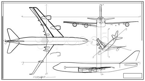 section plane engineering drawing aircraft technical drawing time lapse hd stock video