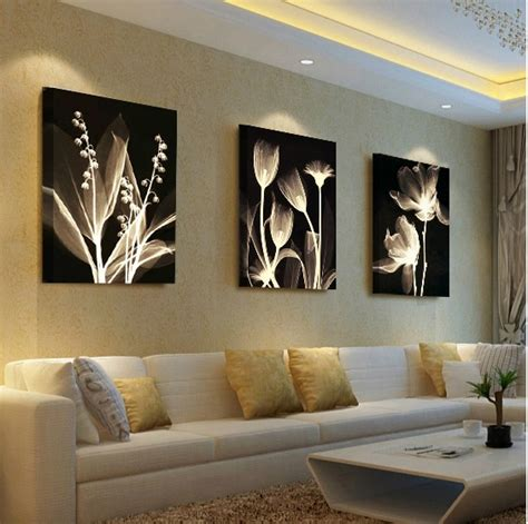 paintings for living rooms living room decorative painting modern sofa background flower design wall painting unframed