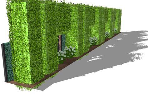 moderner sichtschutz für garten hecke zaun idee