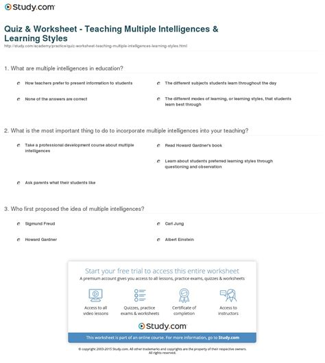 printable iq test for elementary students multiple intelligence test for elementary students