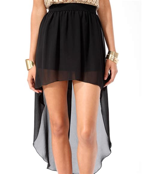 black high low skirt on the hunt