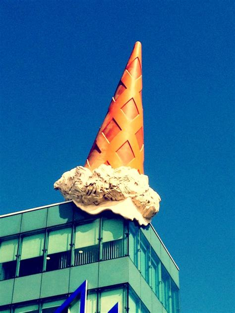 claes oldenburg pop movement dropped cone claes oldenburg coosje bruggen