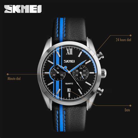 Jam Tangan Skmei Black skmei jam tangan analog pria 9148cl black white jakartanotebook