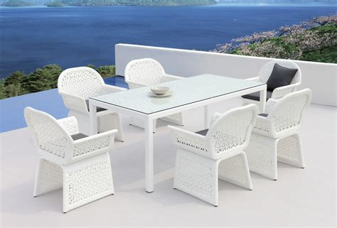 Provence Modern White Outdoor Dining Set