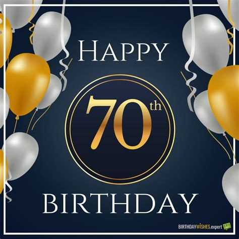 Happy 70th Birthday Card 70th Birthday Wishes Messages For 70 Year Olds