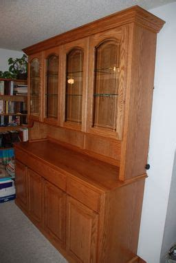 hand  oak china hutch  daniel cabinets custommadecom