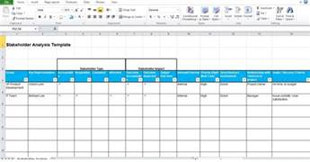stakeholder map template free free stakeholder analysis template project management