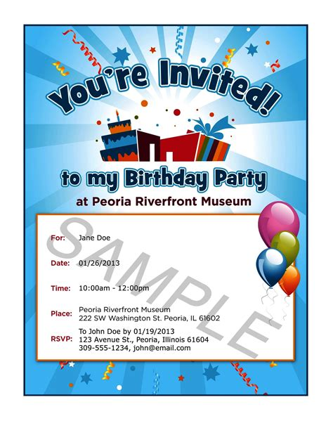 Invitation Letter Birthday invitation letter for birthday to friend in