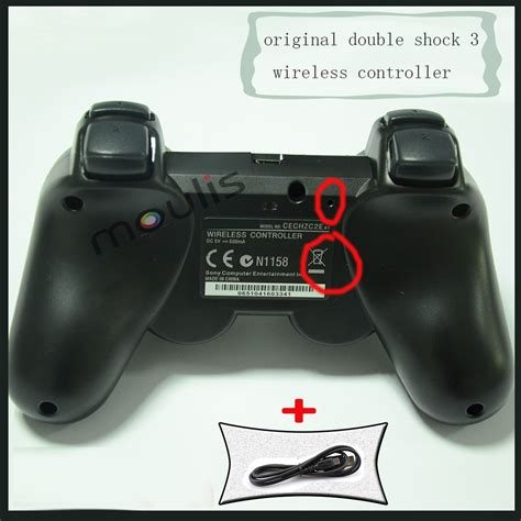 Controller Stick Ps3 Sixasis for ps3 original wireless controller sixaxis joystick for ps3 controller charge cable free