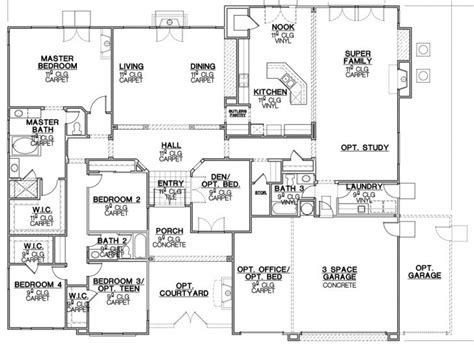 big ranch house plans ranch house plans with big kitchens archives new home plans design