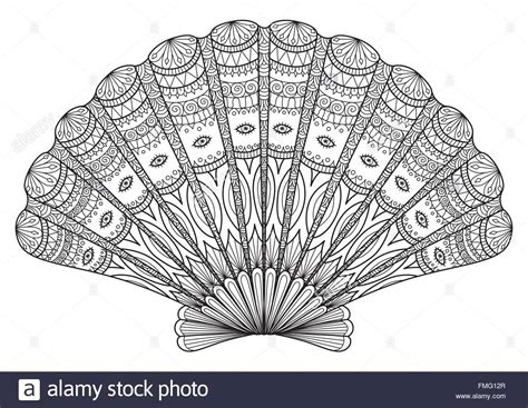 design effect in r seashell line art for coloring book t shirt design effect