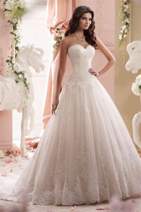 robe de mari 233 e bustier en dentelle de couleur ivoire avec
