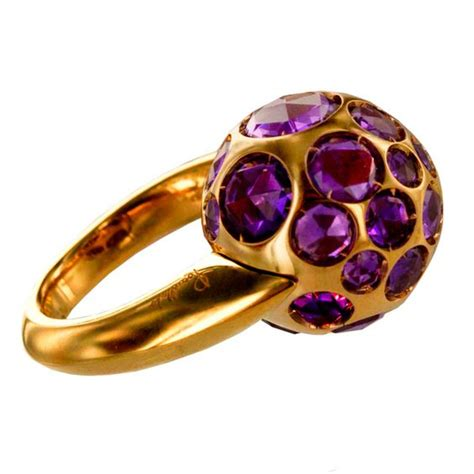 pomellato italia pomellato gold and amethyst ring rings italy and
