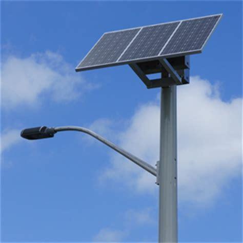 Solar Systems Tesotech Services Solar Panel Light Post