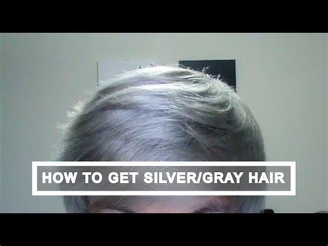 how i got gray hair how to get silver white gray hair tutorial youtube