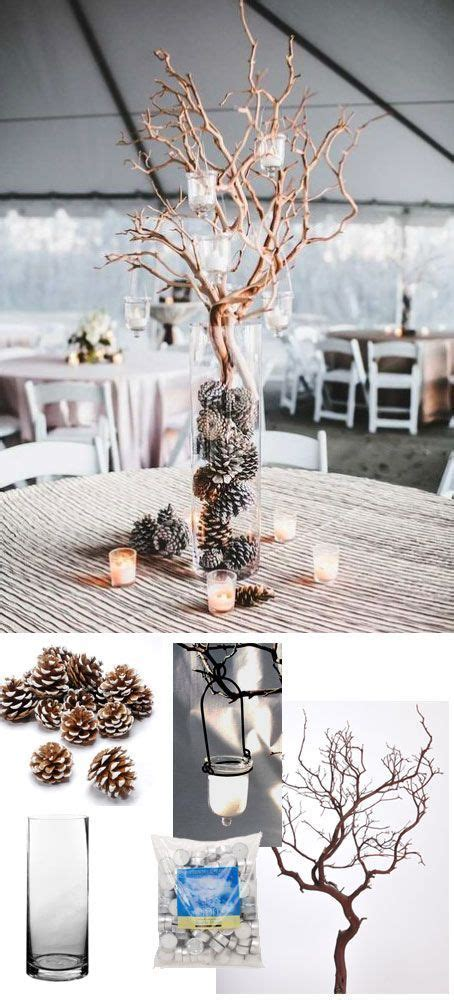 25  best ideas about Winter Wedding Centerpieces on