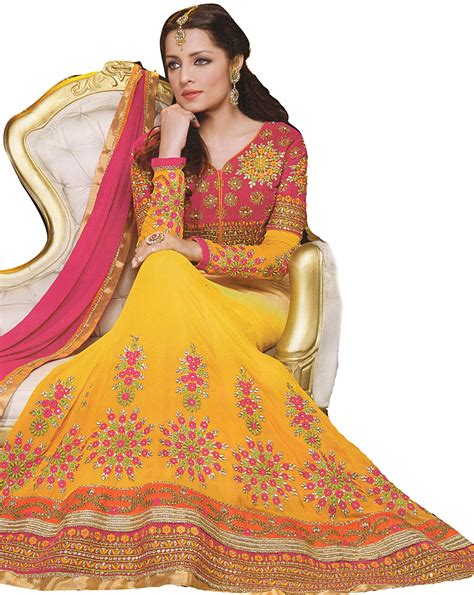 Celana Bordir Flowers cyber yellow celina bridal anarkali suit with ari