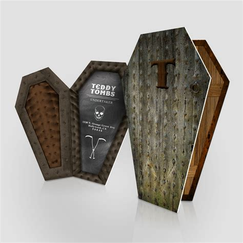 Coffin Shaped Business Cards coffin cards haunt jakprints inc