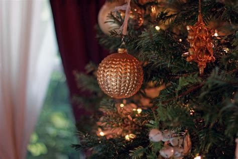 gold tree ornaments gold white tree all things kate