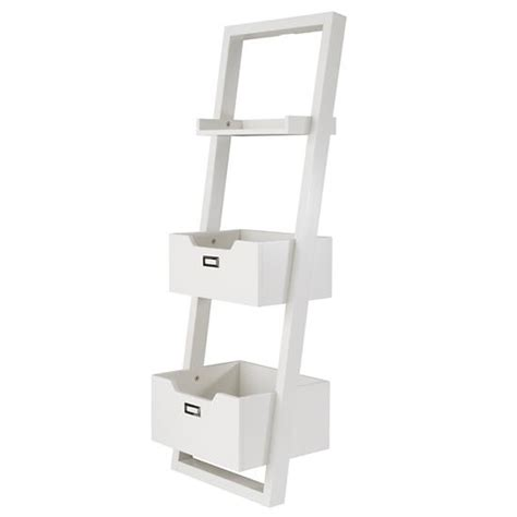 sloane leaning bookcase white the land of nod