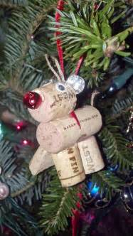 items similar to reindeer christmas tree ornament made from recycled wine corks holiday