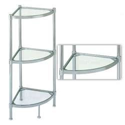 bathroom shelves chrome corner glass shelves stand shelf 3 tier rack chrome home