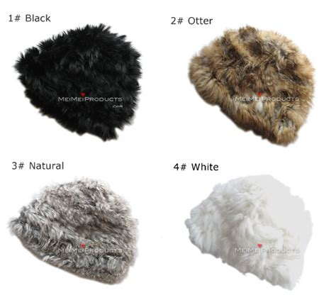 Set Rabbit Legging Import one size genuine rabbit fur beanie fashion hat caps