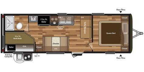 hideout rv floor plans full specs for 2016 keystone hideout 27rbwe rvs rvusa com