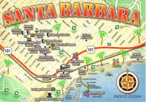 santa barbara california map postcard a photo on flickriver