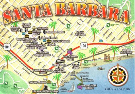 santa barbara california map postcard a photo on flickriver