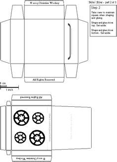 How To Make A Paper Refrigerator - 5 best images of white house miniature printable free