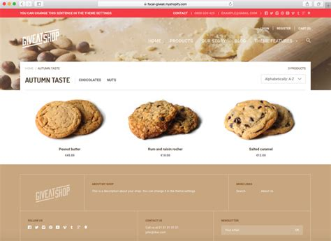 shopify themes bakery 10 best shopify themes for bakeries and coffee shops 2016