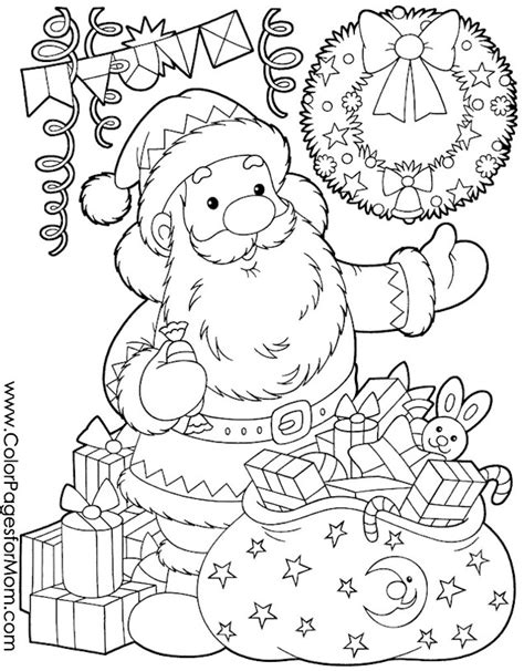christmas coloring page for adults santa