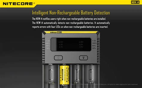 Special Nitecore Intellicharger Universal Battery Charger 4 Slot For nitecore intellicharger new i4 smart charger new version