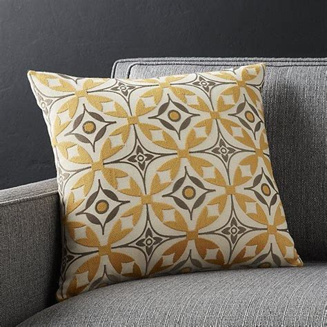 grey yellow pillows yellow and gray scandinavian patterned pillow