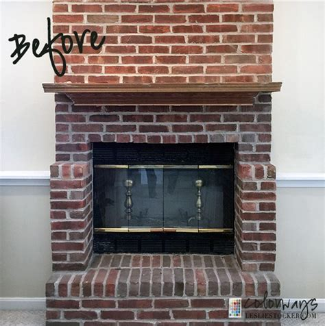 brick fireplace update by leslie stocker my diy home