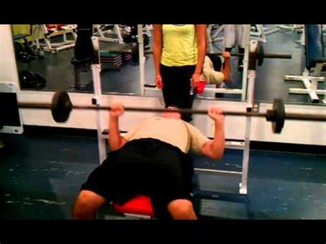 ymca bench press fitness assessment for valdes ymca bench press test youtube